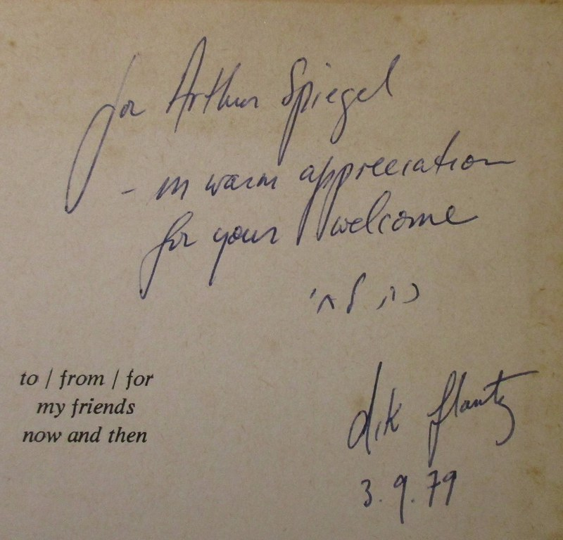 Penn Libraries PR9510.9.F58 S5 1979: Inscription