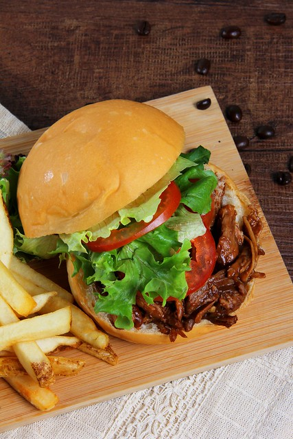 Coffee Pulled Pork Burger