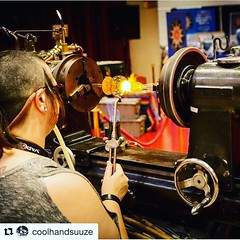 Another HVO Represent shout out to @coolhandsuuze #Repost (@get_repost) ・・・ Here's a couple photos from my demo last night @glassrootsartshow. Photos by @areysocal and @banginaround