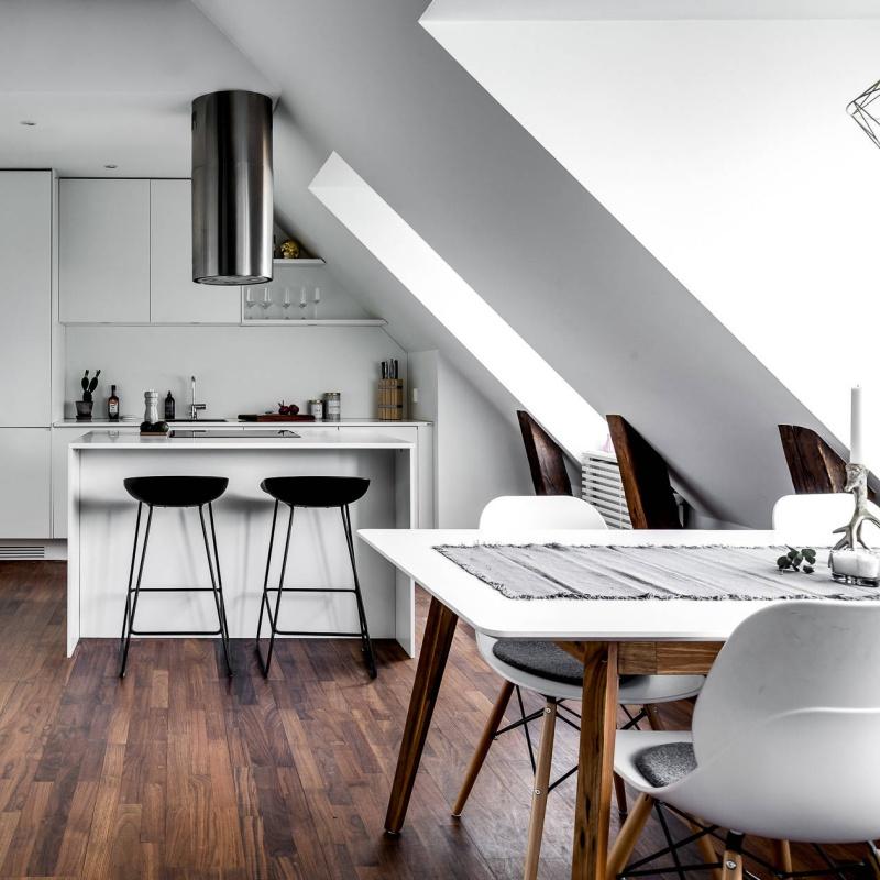 Light Filled Scandinavian Attic Pinterest Decor 2018