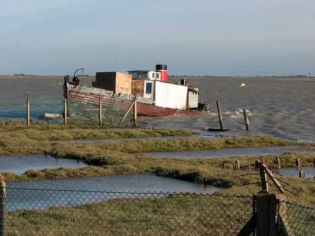 Boat yard at Paglesham Eastend
