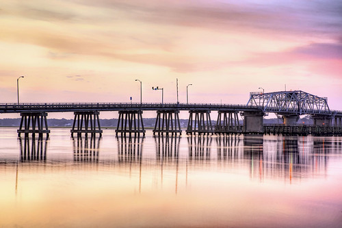 usa southcarolina beaufort sunrise woodsmemorialbridge beaufortriver