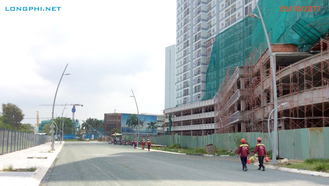 Đường N8 dưới tháp M1.