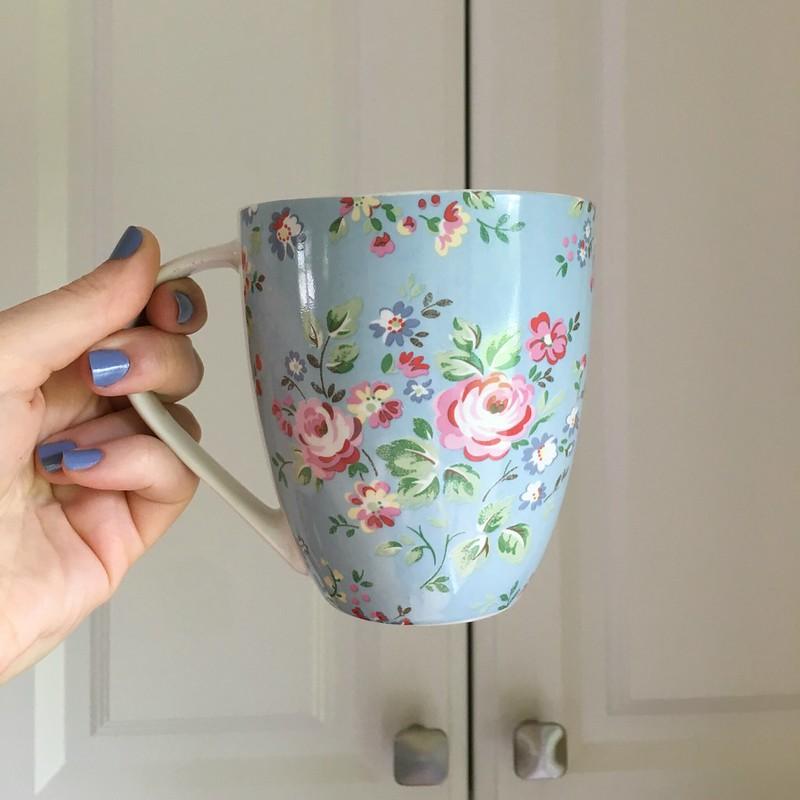 cath kidston blue floral mug