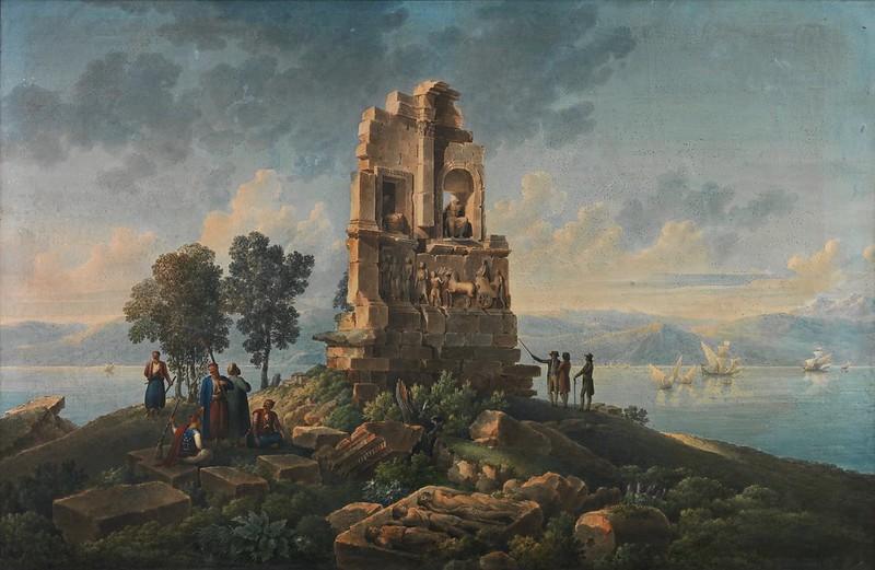 Louis-François Cassas - The Philopappou monument, Athens