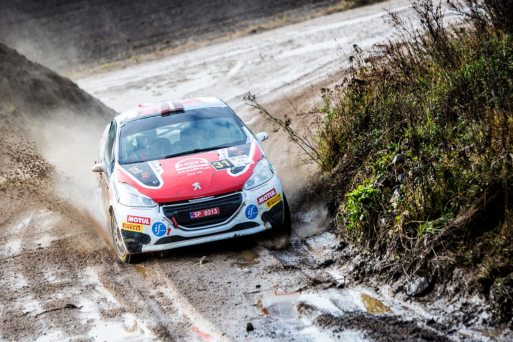 31 Sesks Martins and Malnieks Andris, LMT Autosporta Akademija, Peugeot 208 R2 ERC Junior U27 action during the 2017 European Rally Championship ERC Liepaja rally,  from october 6 to 8, at Liepaja, Lettonie - Photo Thomas Fenetre / DPPI