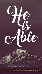 Ephesians 3:20 - He is Able