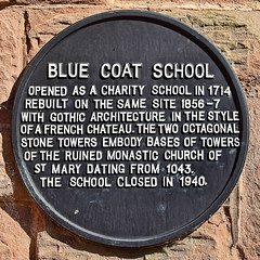 Photo of Blue Coat School, Coventry black plaque