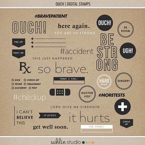 Ouch (Digital Stamps) by Sahlin Studio