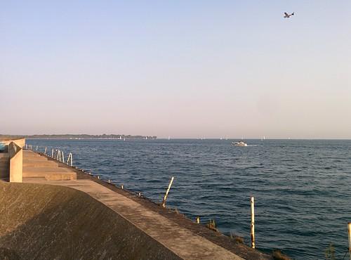 On the pier (2) #toronto #ontarioplace #pier #concrete #architecture #plane #marina #latergram