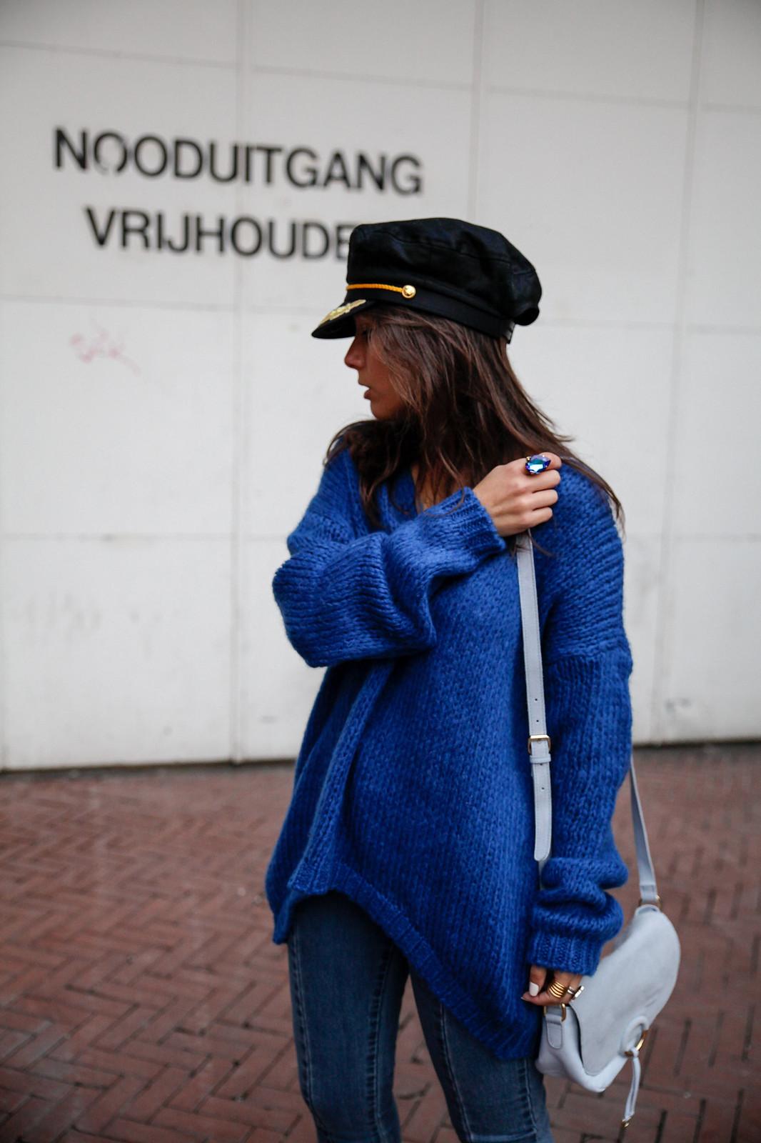theguestgirl pull bleu jersey azul