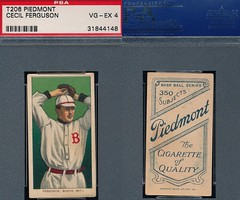 "1909-11 / T206 White Border - CECIL ""George"" FERGUSON (Pitcher) - Boston ""National"" Doves (PSA Certified) (1910 / Piedmont 350 / Factory 25 Back) Tobacco / Cigarette Baseball Card (#164)"