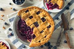 Sweet Homemade Blueberry Pie
