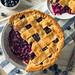 Sweet Homemade Blueberry Pie by brent.hofacker