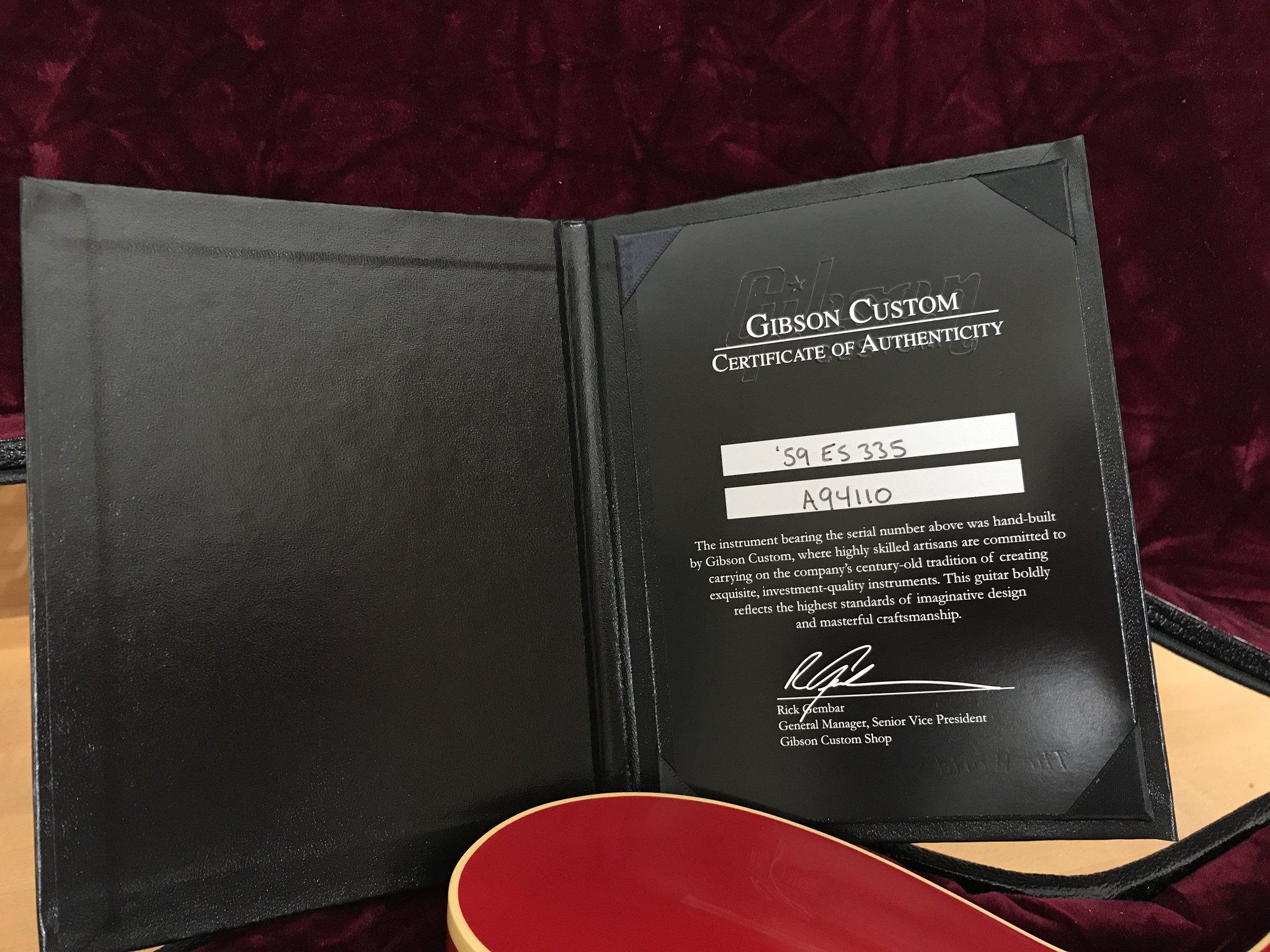 Gibson Custom Shop '59 ES-335 w/ Bigsby VOS