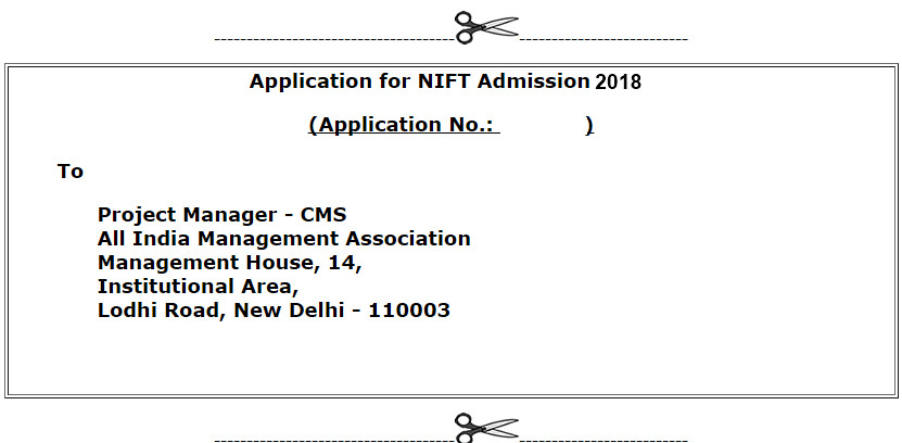 NIFT Application form