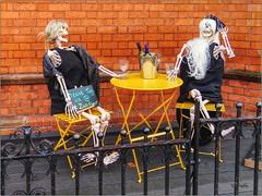 Hairdresser's Halloween Display, Belfast, NI