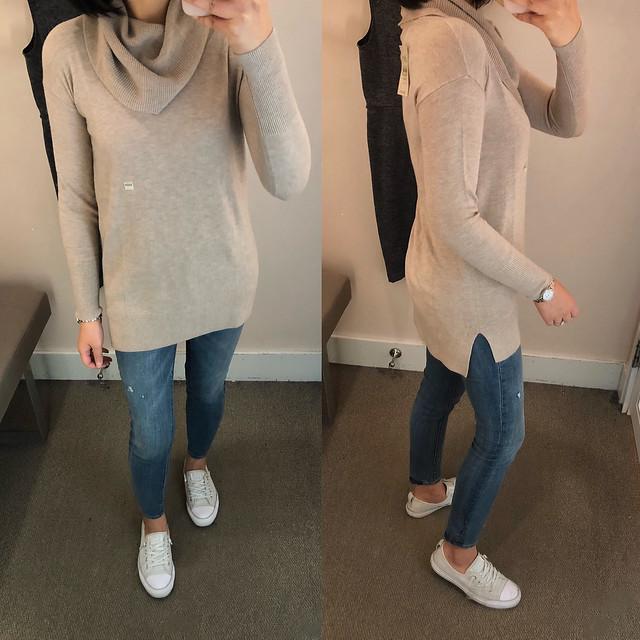 LOFT Cowlneck Tunic Sweater, size XXSP