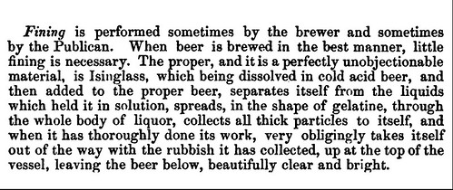 The Fining of Cask Ale (in 1850)