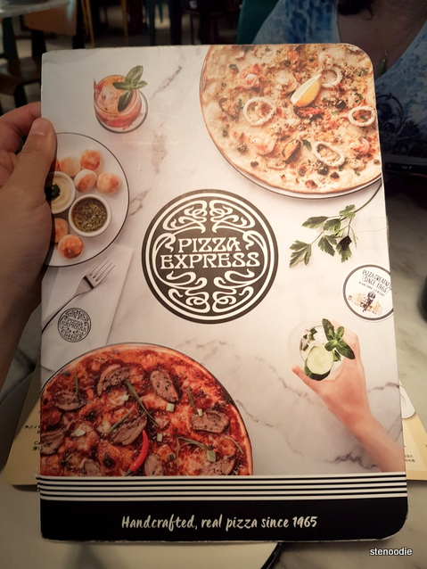 Pizza Express menu cover