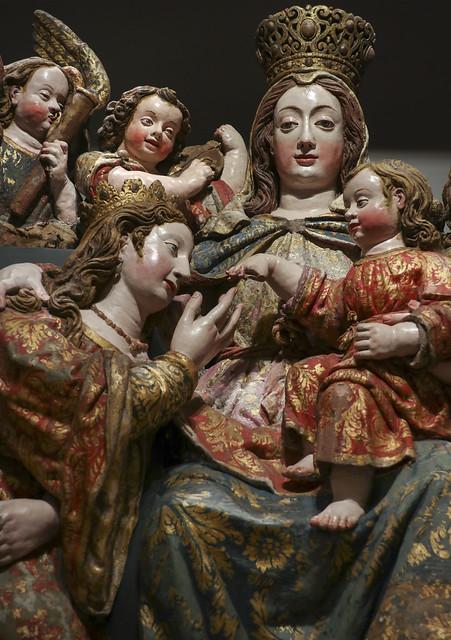 Detail - The Mystic Marriage of St. Catherine of Alexandria, 1653, Friar Jorge dos Reis and Friar Francisco de Santa Agueda