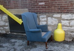 yellow blue chair