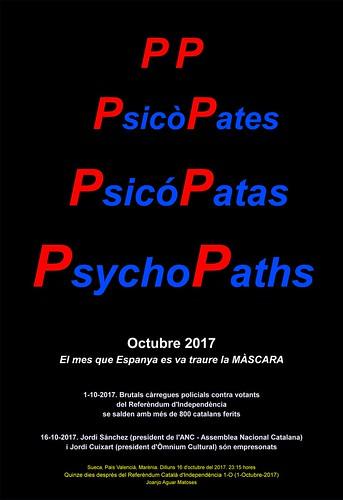 PP. PsicoPates. PsicoPatas. PsychoPaths. Referendum 1-O. NEGRE (16-10-2017) -IMATGE-PNG