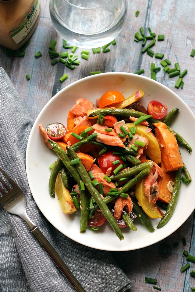 Roasted Salmon Nicoise Salad with Mustard Vinaigrette