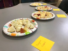 We are studying trait variation in plants this week, so naturally, we had to do some taste testing different varieties of apples! Even found some Aomori apples and reminisced about Misawa a bit 🍎 😍❤️