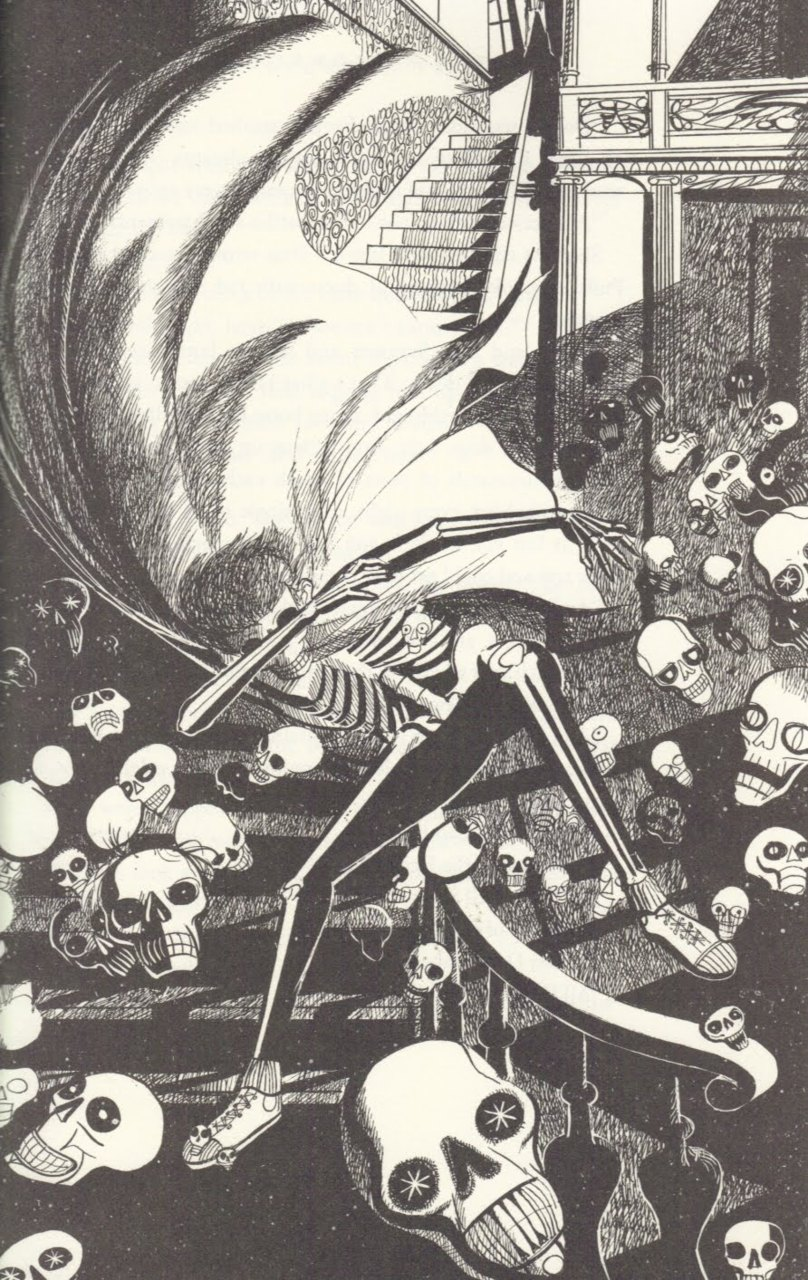 Joseph Mugnaini - illustration from The Halloween Tree, by Ray Bradbury, 1972