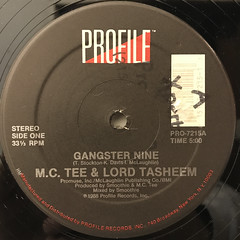 M.C. TEE & LORD TASHEEN:GANGSTER NINE(LABEL SIDE-A)