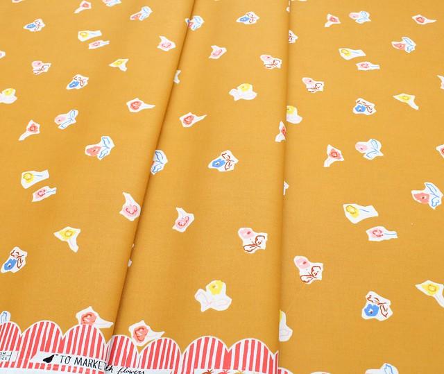 Cloud9 Fabrics To Market, To Market Sidewalk Flowers Gold