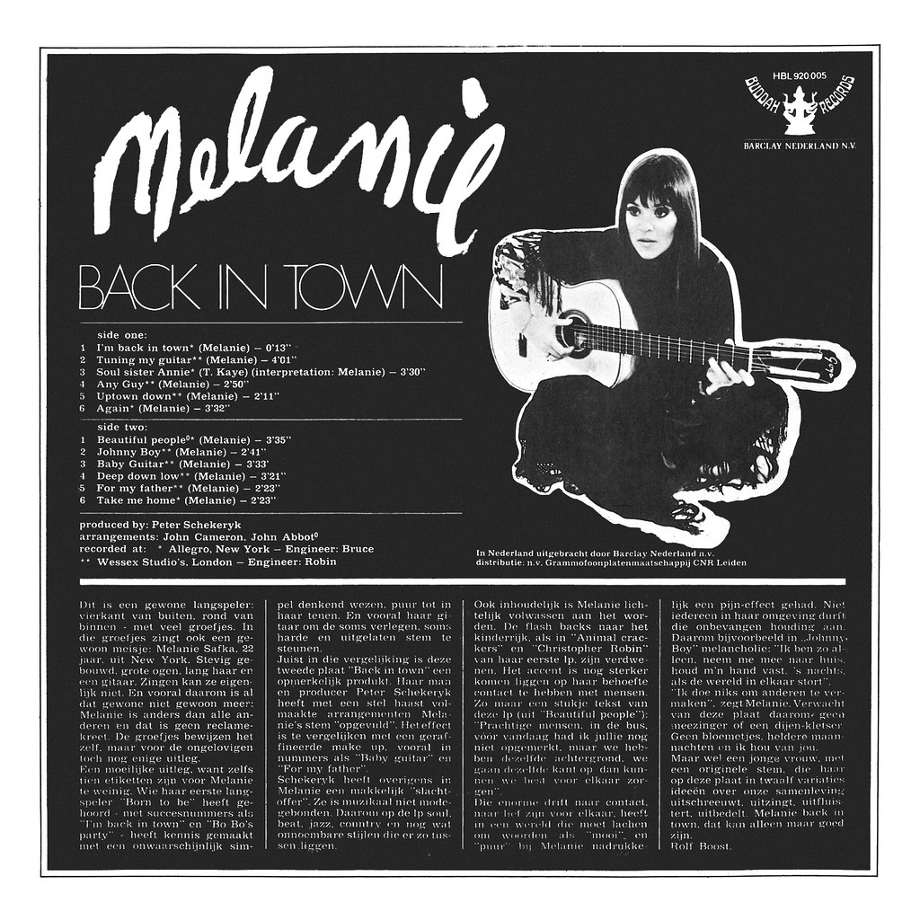 Melanie - Back in Town