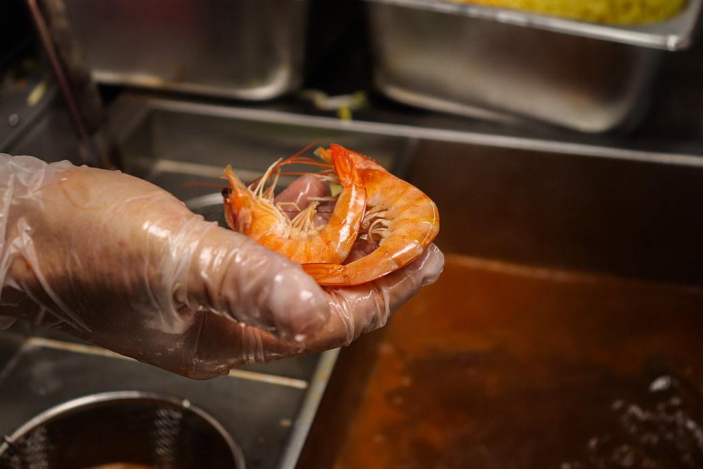 small prawns pick up