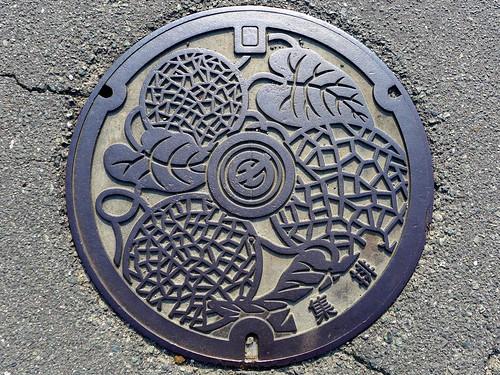 Kamoto Kumamoto, manhole cover 2 (熊本県鹿本町のマンホール2)