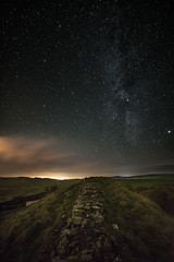 Hadrian's Wall with Milky Way