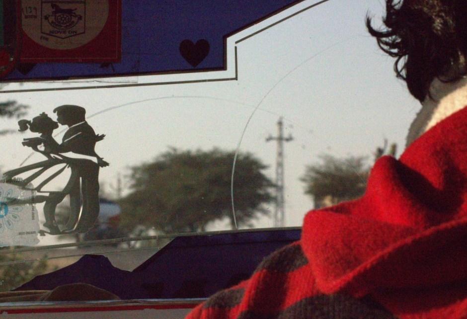 Auto rickshaw drive in rural Rajasthan
