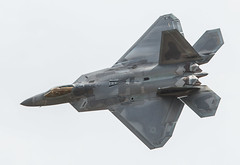 Lockheed Martin F-22A Raptor Maneuvers During the 2017 Joint Base Andrews Air Show
