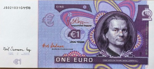 Boggs One Euro note front