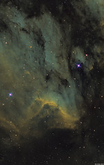 The Pelican Nebula in SHO hubble palette