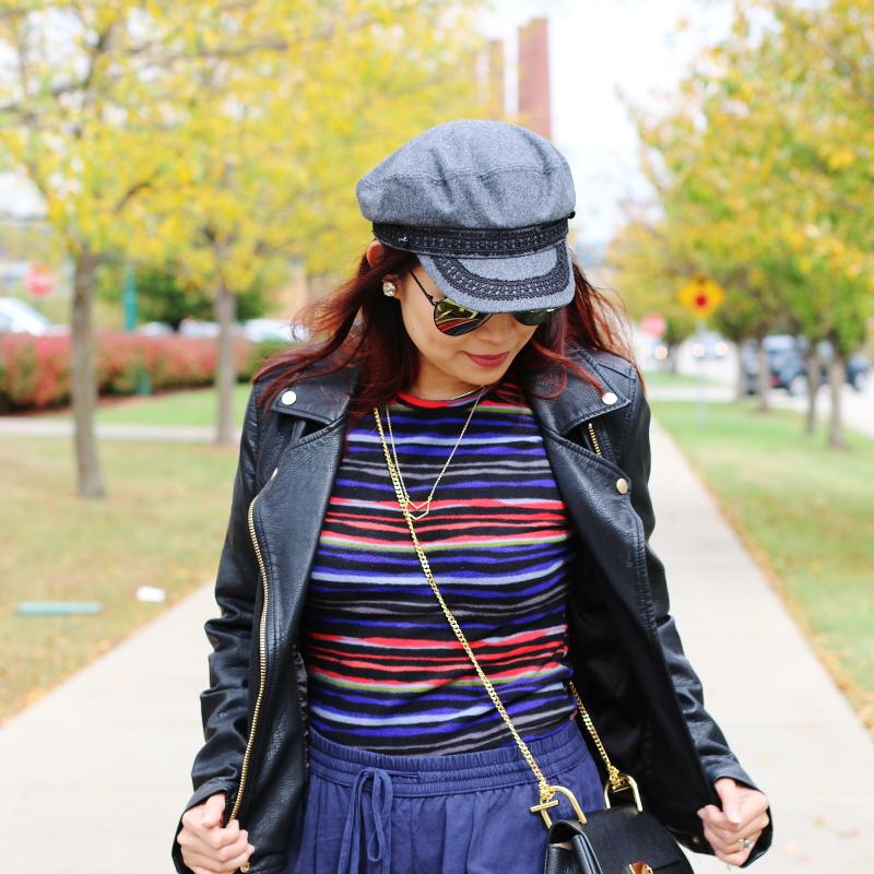 cuddl-duds-stripe-fleece-top-faux-leather-jacket-hat-1