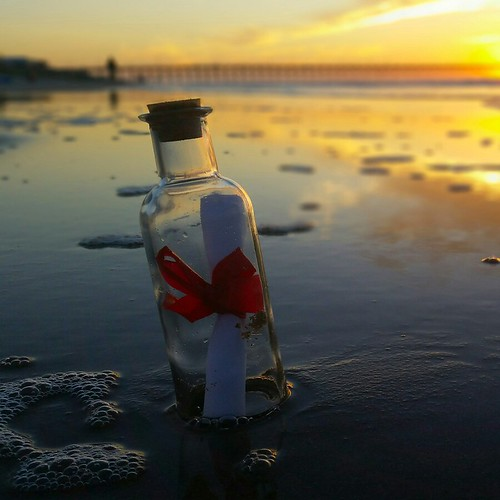 bottle message beach sunrise surfcity topsailisland butrovich
