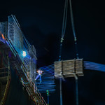 precariously swinging 10 stories over beale street