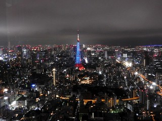 六本木ヒルズから(ジブリ展)03 青い東京タワー