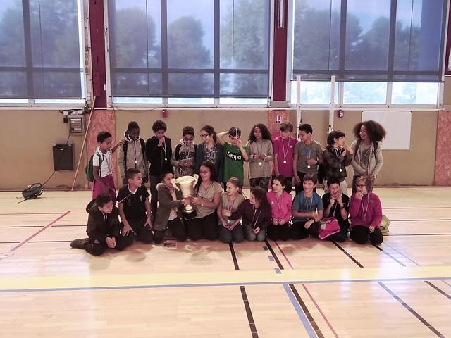 186 élèves de 6ème du collège Gambetta ont participé aux tournois sportifs organisés par l'AS