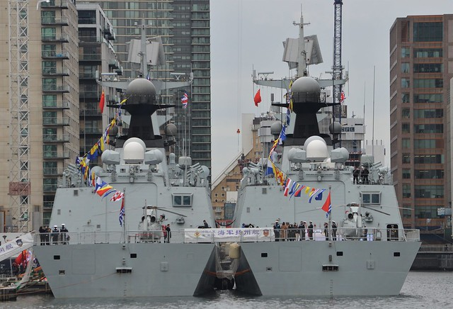 PLAN Type 054A Frigates (15) @ West India Dock 04-10-17