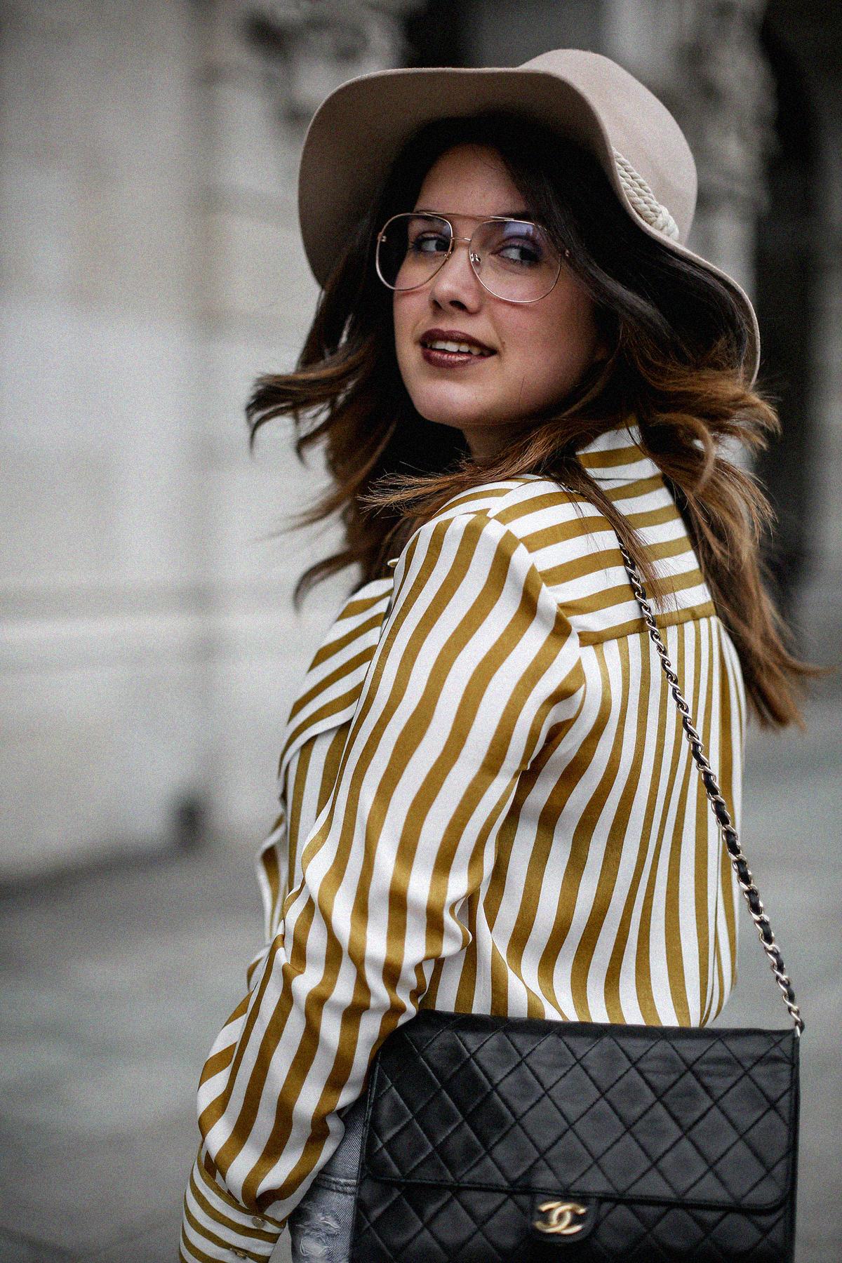 blusa rayas mostaza zara levis skinny 501 streetstyle2