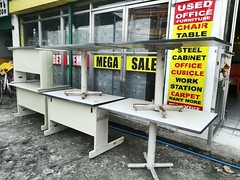 Great Bargain Office Tables ranges from P2,000 to P2400 only.  Grab one now! Exclusively offered in all Megaoffice Surplus showroom nationwide  #usedfurniture #restauant #office #table #desk #furniture #sale #megaofficesurplus