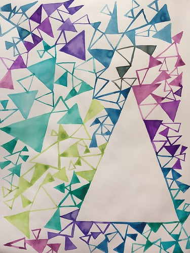 40 Triangles - Art Journal Page