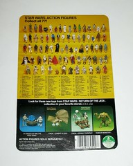 star wars return of the jedi klaatu in skiff guard outfit kenner 1983 cardback 77 back made in hong kong unpunched b